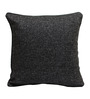Rang Rage Black Jute 16 x 16 Inch Handcrafted Cushion Covers - Set of 2