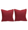 Rang Rage Coral Jute 16 x 16 Inch Handcrafted Cushion Covers - Set of 2