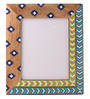 Rang Rage Multicolour Mango Wood 12 x 0.8 x 14.1 Inch Spring Aztec Hand Painted Photo Frame