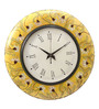 Rang Rage Multicolour MDF 16 Inch Autumn Mughal Hand Painted Round Wall Clock