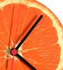 Rang Rage Orange Handpainted Round Clock