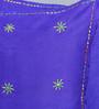 Rangdesi Blue Art Silk 16 x 16 Inch Handembroidered Cushion Cover - Set of 2
