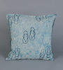 RangDesi Blue Cotton 16 x 16 Inch Double Sided Cushion Covers - Set of 2