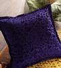 RangDesi Blue Velvet 16 x 16 Inch Handcrafted Designer Cushion Cover