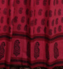 RangDesi Red Cotton 84 x 48 Inch Eco-Friendly Vegetable Dyes Bagh Handblock Printed Door Curtain - Set of 2