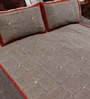 RangDesi Multicolor Cotton 108 x 91 Inch Bagru Double Bed Sheet (with Pillow Covers)