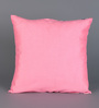RangDesi Pink Silk 16 x 16 Inch Bagh Patch Cushion Covers - Set of 2