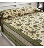 Ratan Jaipur Green Cotton Queen Size Bed Cover