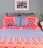 Raymond Home Blue Cotton Queen Silverleaf Bed Sheet with 2 Pillow Covers