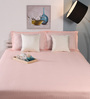 Raymond Home Peach Cotton King Size Bed Sheet - Set of 3
