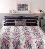 Raymond Home Pink and Grey Cotton Queen Size Bed sheet - Set of 5