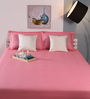 Raymond Home Pink Cotton King Size Bed Sheet - Set of 3