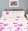 Raymond Home Purple Cotton Queen Size Silverleaf Bed Sheet with 2 Pillow Covers