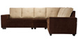 Regal Sectional Sofa in Brown & Beige Colour by Vive