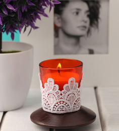 Resonance Candles Orange Lace Decorative Candles