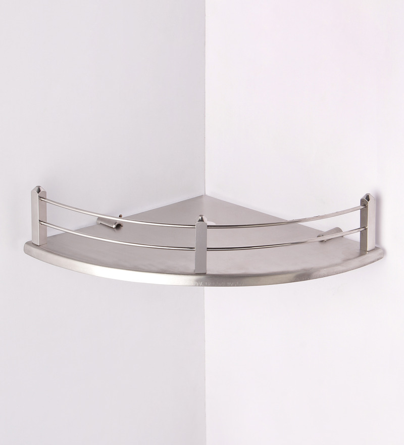 Buy regis stella silver stainless steel bathroom shelf - Bathroom shelves stainless steel ...