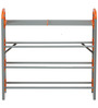 Redley Iron Shoe Rack in Orange Colour by Nilkamal