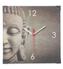 Rednbrown Grey MDF 12 x 12 Inch Buddha Square Wall Clock