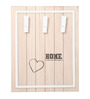 RedNBrown Pink Wood & MDF Home 3 Clips Photo Frame