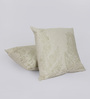 Reme Beige Cotton 16 x 16 Inch Digital Print Cushion Cover - Set of 2