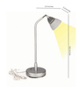 Renata LED Desk Light - Enlighten - Neutral White Light - Silver- Plastic Shade