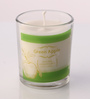 Resonance Green Apple Aroma Natural Wax Shot Glass Scented Candle