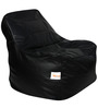 Rester XXL Bean Bag  with Beans in Black Colour by Sattva