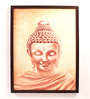 Retcomm Art Wooden 18 x 1 x 24 Inch Lord Buddha In Meditation Framed Canvas Painting