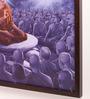 Retcomm Art Wooden 18 x 1 x 24 Inch Monk Meditation Framed Canvas Painting