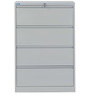Retro Four Drawer Filing Cabinet in Grey Colour by Nilkamal