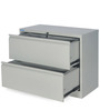 Retro Two Drawer Filing Cabinet in Grey Colour by Nilkamal
