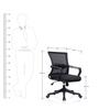 Reva Ergonomic Chair in Black Colour by Oblique