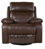 Revolving/ Rocking One Seater Recliner Sofa in Brown Color by Parin
