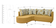 Colorado Fabric RHS Sectional Sofa with Lounger in Mustard Colour by HomeTown