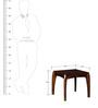 Dvina Bedside Table in Provincial Teak Finish by Woodsworth