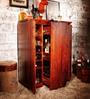Oakland Bar Cabinet in Honey Oak Finish by Woodsworth