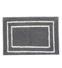 Riva Carpets Grey Cotton Rectangular 24 x 16 Inch Bath Mat