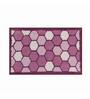 Riva Carpets Honey Comb Purple Cotton 75x48 INCH Bath Mat
