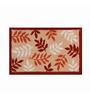 Riva Carpets Leaf Red Cotton 75x48 INCH Bath Mat
