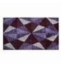 Riva Carpets Prism Design Purple Acrylic 60x108 INCH Bath Mat