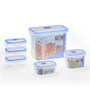 RK Super Lock & Seal Transparent Rectangular Gift Containers - Set of 6