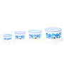 RK Super Lock & Seal White Round Happy Home Containers - Set of 4