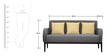 Rome Three Seater Sofa in Grey Colour by Furnitech
