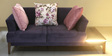 Romina Two Seater Sofa in Purple Colour by @ Home