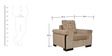 Royal Sofa Set  (3 + 1 + 1) with 5 Cushions in Brown Colour by Crystal Furnitech