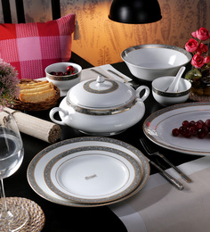 Royal Decorium Elegance 2010 Porcelain Dinner Set - Set Of 35