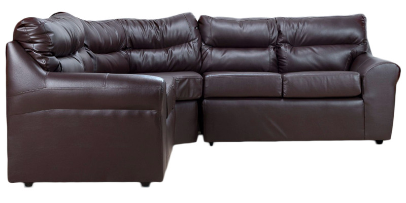 rosabelle fy modular sectional sofa in brown colour by furny