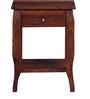 Devlin Bed Side Table in Honey Oak Finish by Amberville