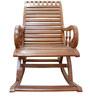 Rocking Chair in Maestro Teak Finish by BigSmile