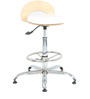 Rolly Bar Stool in White by The Furniture Store